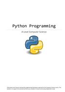 Python Programming Reference Guide/Tutorials Alevel Computer Science