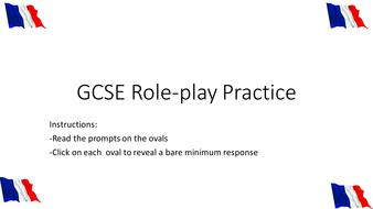 GCSE Role Play Practice (Foundation Level)