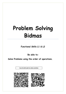 Functional Skills Bidmas and Problem solving. Whole lesson