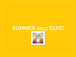 2017 End of Year Quiz