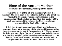 Teaching The Rime Of The Ancient Mariner For Aqa A Level Crime  Teaching The Rime Of The Ancient Mariner For Aqa A Level
