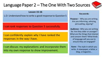 English Language Paper 2 Scheme of Learning