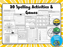 spelling activities games by hoppytimes teaching resources. Black Bedroom Furniture Sets. Home Design Ideas