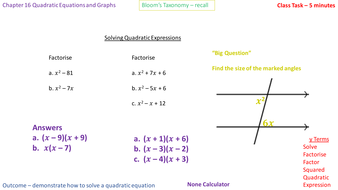 16 5a solving quadratic equations of the form x 2 bx 0 and x 2
