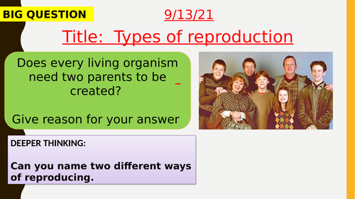 AQA new specification-Types of reproduction-B13.1