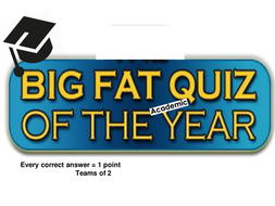 Big Fat Quiz of the [Academic] Year! - July 2017