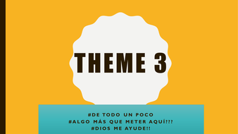WJEC Theme 3 Diversity and difference--- New specification A Level Spanish