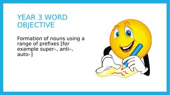 Year 3 SPAG: Forming nouns using prefixes