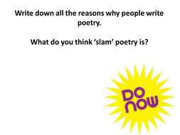 Slam Poetry: An Introduction