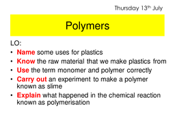 Polymers slime by elanesque teaching resources tes polymers slime ccuart Gallery