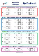 Equivalent Fractions Differentiated Worksheet by jtodd854 ...