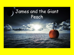 Reading skills using 'James and the Giant Peach'