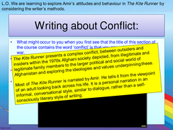 AQA ALevel Language and Literature - Writing about society - The Kite Runner