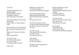 frozen song lyric
