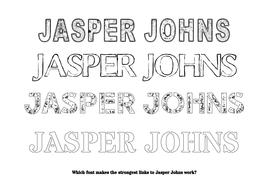Jasper Johns Fonts Worksheet By Theartyteacher Teaching Resources