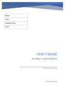 Year 7 - Musical Elements Workbook