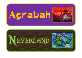 Disney Themed Group Name Signs By Addevlin Teaching