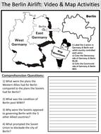 Cold War: Berlin Airlift Video ~ Video Worksheet & Map ...