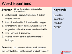 AQA Chapter 1 - Lesson 2 - Word Equations.pptx