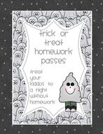 Hallowe'en Homework Passes