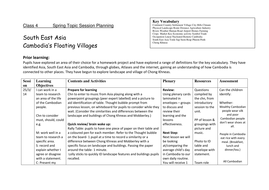 Geography- South East Asia- Cambodia Observation Lesson Plan
