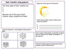 Heat transfer using popcorn by Loubelle100 - Teaching Resources - Tes