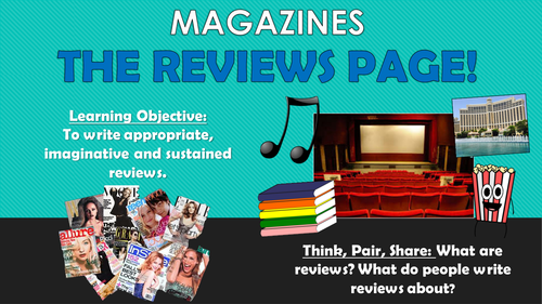 Magazines - Writing Reviews!