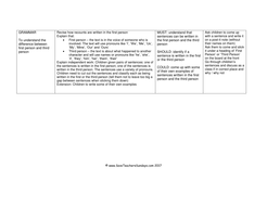 1st and 3rd Person / First and Third Person Worksheet and Lesson ...