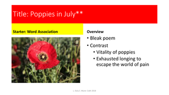 Poppies in july sylvia plath by louisebdaly teaching resources tes poppies in july sylvia plath mightylinksfo