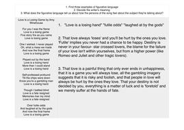 Example Analysis Poetry By Grainnehallahan Teaching Resources Tes