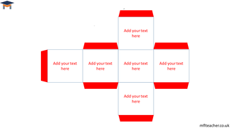 Dice Template   Dice Template To Edit And Cut Out By Themflteacher Teaching Resources