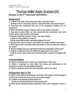 Analysis Worksheets for Thomas Adès' Asyla (Ecstasio, mvt. III)