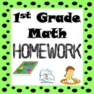 1st Grade Math Homework | 1st Grade Morning Work (A YEARLONG Bundle)