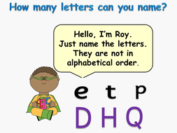 Alphabet: Presentations, Capital/lower case letters, Interactive pictures  and words Activity
