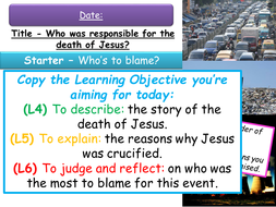 Year 8 Lessons on Jesus 5-6 - Death and Jewish Messiah
