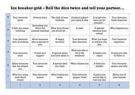 Ice breaker grid  challenge