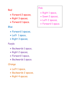 EYFS/ Key Stage 1, Maths: Direction and Poisition resources.