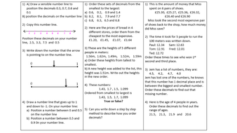 ordering decimals differentiated by wrighte  teaching resources  tes ordering decimals differentiated