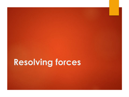 Resolving forces
