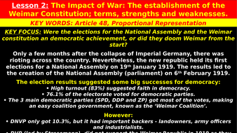 strengths and weaknesses of the weimar republic
