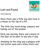 Lost-and-Found---Story-Openingmiddleend..pptx