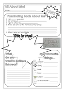 All About Me - KS3 Form Board