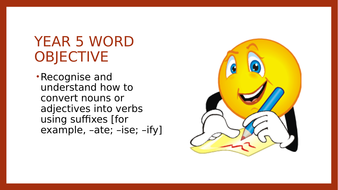 Year 5 SPAG PPT: Suffixes
