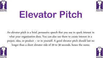 History Elevator Pitch Exercise and Worksheets by teacherstevenson ...
