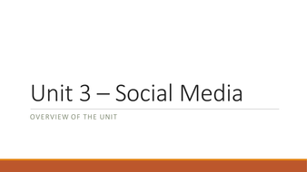 NQF BTEC Level 3 ICT Unit 3 - Using Social Media in Business (Learning Aim A Resources)