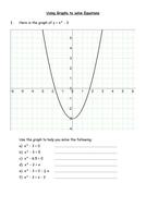 Using quadratic graphs to solve equations