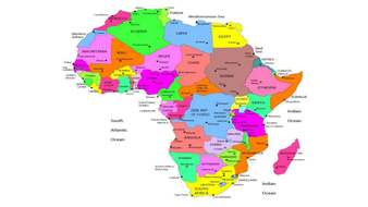 Map Of Africa Ks2.Locational Knowledge Ks2 Unit Of Work By Krisgreg30 Teaching
