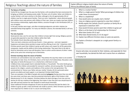 8---Religious-Teachings-About-the-Nature-of-Families-Christianity-Worksheet.docx