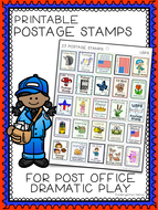 Sly image with printable postage