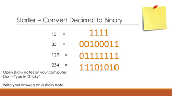 GCSE Computer Science (Binary Addition)